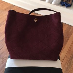 Tory Burch Burgundy suave hobo bag